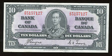1937 Bank of Canada $10 - Cat#BC-24c. S/N: Z/D5157127