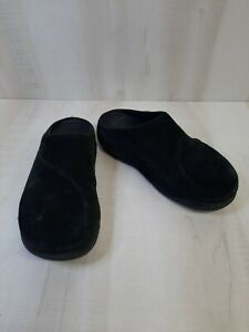 FITFLOP Womens Size 8 Gogh Black Suede Leather Clogs Mules