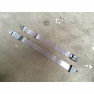 2pt Gray/Grey Lap Seat Belt Standard Buckle - Each v8 muscle car hot rod gm ford