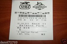 "2015 Belmont Stakes ""AMERICAN PHAROAH""  $2 WIN  TICKET TRIPLE CROWN"