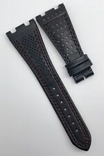 AP Bands Audemars Piguet ROO 28mm x 18mm Black Genuine Leather Watch Strap OEM