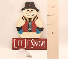 Super Cute!!!! Country Snowman Snow Gauge. 2731