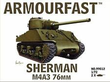 Armourfast 99012 1/72 WWII USA Sherman M4A3 76mm (2 Models)