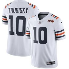 MITCHELL TRUBISKY CHICAGO BEARS NFL WHITE 100TH SEASON MEN XL JERSEY. NWT