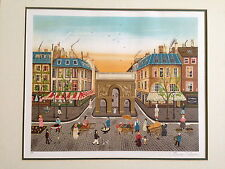 "Eugene Valentin ""Paris Sunset"" original limited edition hand signed lithograph"