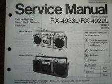 Panasonic RX-4922L RADIO REGISTRATORE A CASSETTE MANUALE SERVIZIO diagramma di cablaggio parti