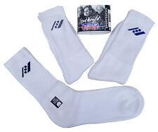RUCANOR White Triple Pack Sport Socks With Logo Cotton Blend UK 6 - 8  MRRP£3-99