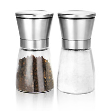 Salt And Pepper Grinders 2 Pack Adjustable Salt & Pepper Mills M&W