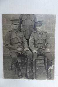 AUSTRALIAN WW1 DIGGERS SOLDIERS MILITARY PHOTOGRAPH CUT ADELAIDE PHOTO CARD