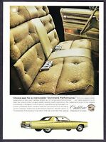 1968 Cadillac Fleetwood Brougham Interior & Sedan DeVille photo vintage print ad