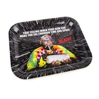 1x  RAW Space Tray ( Large 11 x 14 ) Durable Quality Cigarette Rolling Black