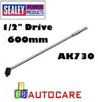 "Sealey AK730 Breaker Bar 600mm 1/2""Sq Drive Power Bar 24"" Chrome Vanadium"