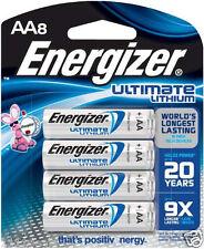 8 Energizer L91BP-8 Ultimate Lithium AA Batteries, Date 2037