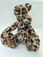 Jointed Artist Bear Leopard Print Teddy Bear 16 inches 41 cms Del Fiji Bears