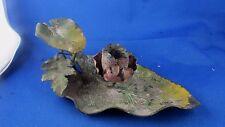 ancien a main bougeoir en bronze cuivre de vienne art nouveau 1900 decor floral