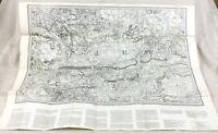 1862 Grande Mappa Antica Di Dorking Surrey Contea Vintage 1969 Riproduzione