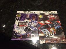Dale Earnhardt Jr Signed Autographed Daytona Hersey 300 Ticket lot of 2 JSA