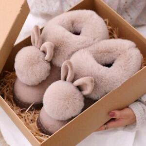 Women 2020 Fashion Winter Cotton Home Slippers Bunny Ear Indoor Rabbit Soft Slip