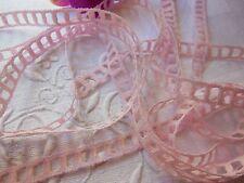 belle dentelle  vintage rose style jour échelle entre deux  5 mètres