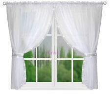 Fertiggardine Gardine Vorhang Voile Panel Weiß Wohnzimmer Zirkonia 300cm x 150cm
