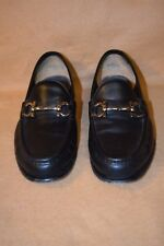 Salvatore Ferragamo Black Leather Loafers - SG3466  - Size 9.5 - 1B