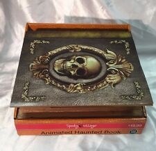NEW Halloween Spooky Village Animated Haunted Book  Haunted House Prop Decor