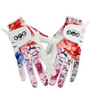 Women Golf Gloves Soft Breathable Pure Sheepskin Genuine Leather Left Right Hand