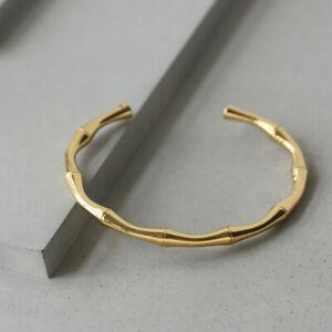 Gold Bamboo Bangle -14K Gold Women Bracelet - Minimalist Bracelet