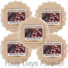5 CERA Yankee Candle Tarts si scioglie Ebano e rovere compra 2 SALVA £ 2-Fresca Fragranza
