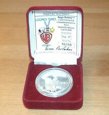 New listing Warner Brothers Looney Tunes 1st Limited 1 Troy Oz Silver Coin w/Coa & Box 1987