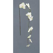 Kunstblume PHALENOPSIS- ZWEIG 122 cm. Orchidee Zweig HÄNGER weiß WEISS 304001-40