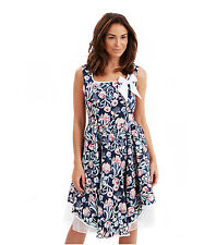 Knee Length Square Neck Floral Dresses for Women