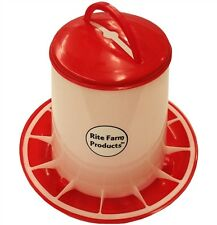 MEDIUM RITE FARM PRODUCTS HD 6.6 POUND CHICKEN FEEDER LID & HANDLE POULTRY CHICK
