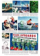 1956 Vintage ad Western Auto Outboard Wizard Motors South Bend Reels 2 sided