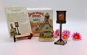 Retro 1990s DAVID WINTER Ornamental Ceramic Cottages The Smoked Salmon Boxed