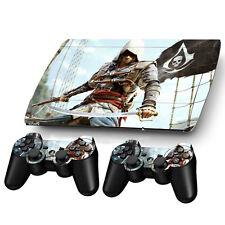 Assassin Sticker Decal For PS3 PlayStation Super Slim 4000 + 2 Controller Skins