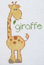 Giraffe - Hand Painted Needlepoint Canvas