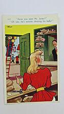 1950s Trow Vintage Postcard Blonde Mr Jones Pawn Broker Pawn Shop Ticket Valuer