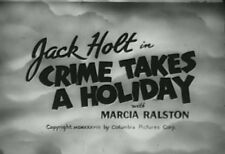 CRIME TAKES A HOLIDAY (1938) DVD JACK HOLT, MARCIA RALSTON