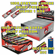 Cartine Lunghe Enjoy Freedom SILVER 1 BOX + FILTRI DI CARTA filtro 1 BOX + BIC