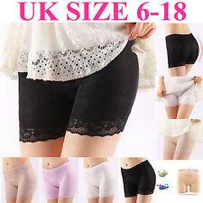 Hot Women Elastic Safety Ice Silk Underwear Shorts Pants Leggings UK Size 6-18