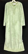 Rare Karen Neuburger Sz Small Minky Fleece Green Maxi Lounge Womens Nightgown