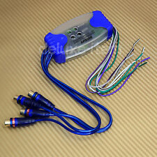Car Stereo Radio Speaker to 4 RCA Line Level Converter Adaptor High/Low Convert