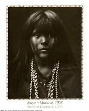 Mosa, Mohave Girl - Photo Portrait by Edward S. Curtis 8x10 In. Repro Poster
