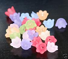 Wholesale 500pcs  Assorted colors Acrylic flower beads