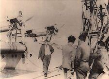 A174 Photographie vintage aviation Hydravion Latécoère Pilote Bourdin 1932