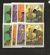 Fujeira  boy  scout  stamp  set,    Mint NH perf  and imperforate sets  KEL01012
