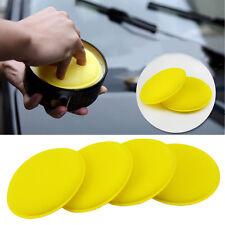 Portatile 12pcs giallo cera lucidante spugna morbida schiuma Applicatore Pastiglie DETERGENTE PER AUTO