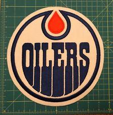 Edmonton Oilers Jersey  Crest Vintage LARGE NHL Embroidered