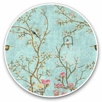 2 x Vinyl Stickers 7.5cm - Vintage Oriental Style Nightingale Cool Gift #16318